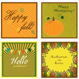 Cartes de collection d'automne Photos stock
