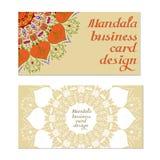 Cartes de conception de mandala d'affaires Éléments décoratifs illustration libre de droits