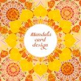 Cartes de conception de mandala d'affaires Éléments décoratifs photo stock