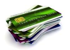 Cartes de crédit Photos stock