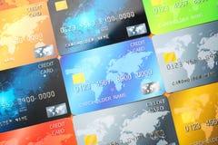 Cartes de crédit comme fond Image stock