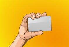 Cartes de crédit de poignée Photos stock