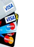 Cartões de crédito bem escolhidos Fotografia de Stock Royalty Free