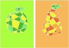 Cartes de fruit Images libres de droits