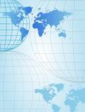 cartes de globes Image libre de droits