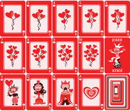 Cartes de jeu illustration stock