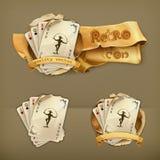Cartes de jeu avec un joker illustration libre de droits