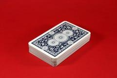 Cartes de jeu bleu-foncé Photographie stock libre de droits