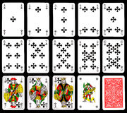 Cartes de jeu - clubs Images stock