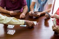 Cartes de jeu d'aînés Images libres de droits
