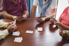 Cartes de jeu d'aînés Photo libre de droits