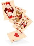 Cartes de jeu de coeurs Photos stock