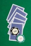 Cartes de jeu de dos image libre de droits