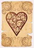 Cartes de jeu de tisonnier d'as de coeurs de cru Image libre de droits