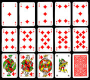 Cartes de jeu - diamant Photographie stock