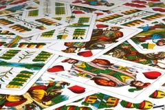 Cartes de jeu hongroises Photographie stock
