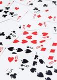 Cartes de jeu mélangées Photographie stock