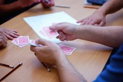 Cartes de jeu de personnes Photo stock