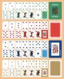 Cartes de jeu pour la DROITE du TISONNIER CASSINO illustration libre de droits