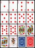Cartes de jeu - procès de diamants Photo stock