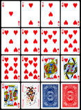 Cartes de jeu - procès de coeurs Photo libre de droits