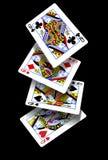 Cartes de jeu - Queens en baisse Photographie stock libre de droits