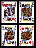 Cartes de jeu - rois Images libres de droits