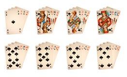 Cartões de jogo clássicos Fotografia de Stock