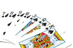 Cartões de jogo clássicos - pás Imagens de Stock