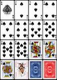 Cartões de jogo - terno das pás Foto de Stock Royalty Free
