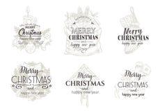 Cartes de Joyeux Noël et de bonne année illustration libre de droits