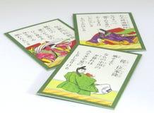 Cartes de Karuta de Japonais Photographie stock