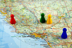 Cartes de la Californie Images libres de droits
