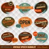 Cartes de mémoires à bulles de la parole de vintage illustration de vecteur