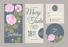Cartes de mariage illustration de vecteur