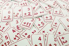 Cartes de maths d'ajout (rouges) image stock