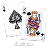 Cartes de nerf de boeuf avec le roi et l'as illustration libre de droits