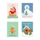 Cartes de Noël 9 illustration libre de droits