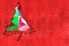 Cartes de Noël brillamment colorées avec le copyspace Image libre de droits