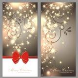 2 cartes de Noël magiques illustration stock