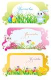 Cartes de Pâques illustration stock