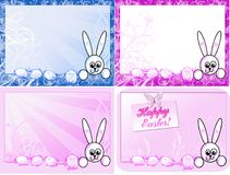 Cartes de Pâques heureuses Illustration de Vecteur