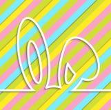 Cartes de Pâques heureuses avec l'oreille Photographie stock libre de droits