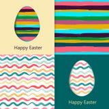 Cartes de Pâques, oeufs de pâques Photos libres de droits