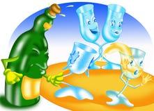 Cartes de pain grillé Image stock