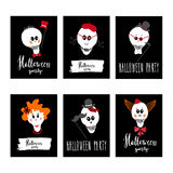 Cartes de partie de Halloween Photo stock