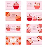 Cartes de petits gâteaux Images libres de droits