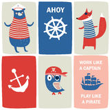 Cartes de pirate Image libre de droits
