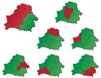 Cartes de provinces de Belorrusia Photos libres de droits