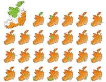 Cartes de provinces de l'Irlande Photo stock